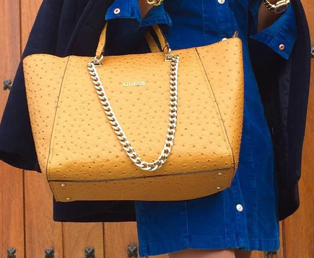 ELECTRIC BLUE AND MUSTARD
