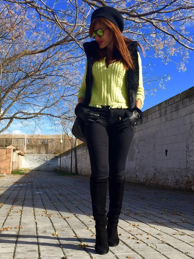 Lemon yellow jacket in nomine fashion - Marcador de ropa mine el corte ingles ...