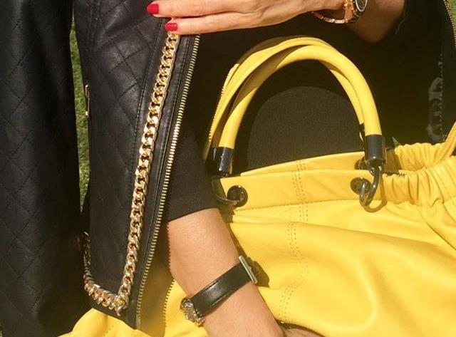 LBD AND YELLOW BAG